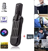 SENRAN Body Camera 1080P Hidden Camera Spy Camera Pen Wearable Camera,One Key Fast Record Police Body Cameras for Home/Office (Black with 32GB SD Card)