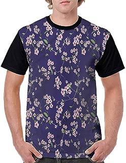 BlountDecor Loose T Shirt,Wooden Planks Image Fashion Personality Customization