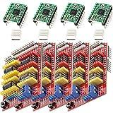 AZDelivery 5 x CNC Shield V3 set con 4 x A4988 motor paso a paso con disipador de calor e impresoras 3D