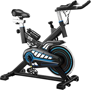 Genki Magnetic Exercise Bike Stationary Spin Bike Home Gym Fitness Bicycle Equipment Cycling with LCD Screen& Phone Holder