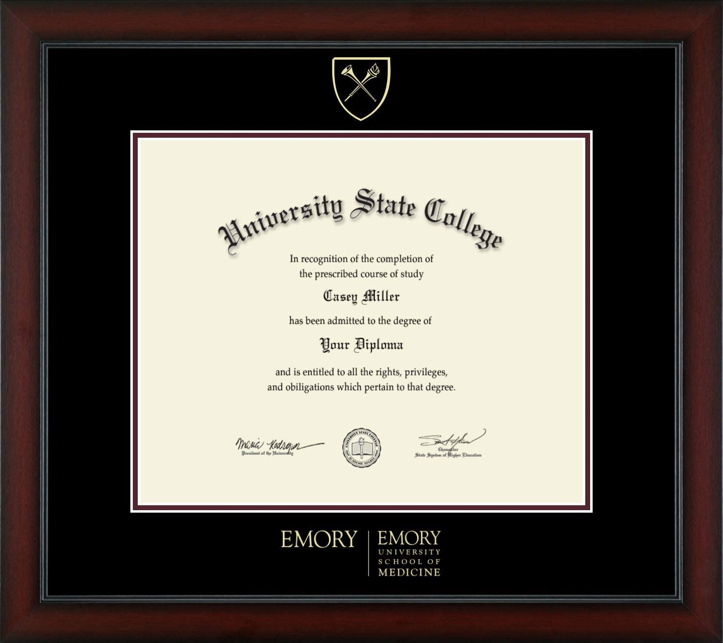 Emory Max 74% OFF University School of Medicine Gold Officially Popularity - Licensed