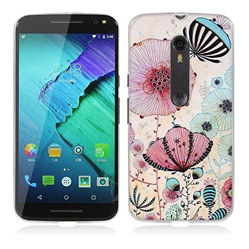 FUBAODA für Motorola Moto X Style Hülle, für Motorola Moto Pure Edition Hülle, 3D Erleichterung Ästhetisch Muster TPU Hülle Schutzhülle Silikon Hülle für Motorola Moto X Style/Pure Edition