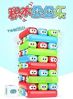 Table Brick Tower Stacking Game Desktop Classic Hand Eye Coordination Entertainment Children Toy Kakiyi