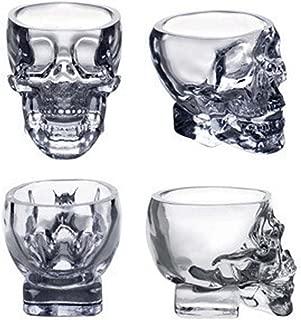 Mullsan ショットグラス カップ ドクロ スカル 髑髏型 骸骨 海賊 74ml 4個セット