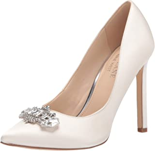 Nine West Women's Trulove2 Pump, White Satin, 5.5