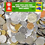 100 Exotic Coins from Asia, Middle East, Africa, Oceania, South America. Collectible Coins, Old Coins for Your Coin Album, Coin Bank or Coin Holders