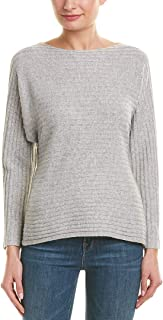 Vince Womens Tie-Back Wool & Cashmere-Blend Sweater, M, Grey