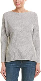 Womens Tie-Back Wool & Cashmere-Blend Sweater, M, Grey
