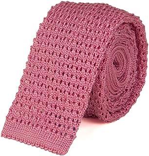 40 COLORI - Cravatta a maglia Jacquard in seta pregiata, Lilla,