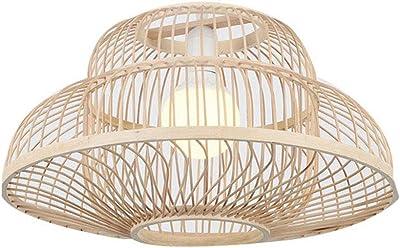 Porte-lampe E27 pour Salon Chambre Cuisine et Couloir Couvercle Annulaire Creux en Fer de Bronze Puissance Maximale 60W GOPLUS Suspension Luminaire en M/étal,/φ40 x 18CM Abat-jour LED Vintage