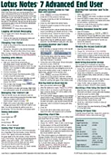 Lotus Notes 7 Advanced End User Quick Reference Guide (Cheat Sheet of Instructions, Tips & Shortcuts - Laminated Card)