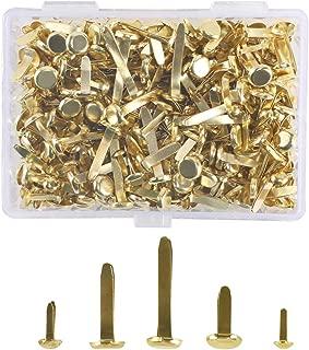Platino//Oro PandaHall 700 Pezzi 7 Dimensioni Mini Brad Scrapbooking Abbellimento Brad Bacchette di Ferro Elementi di Fissaggio di Carta in Metallo per timbratura di Carte Album di Foto Decorazione