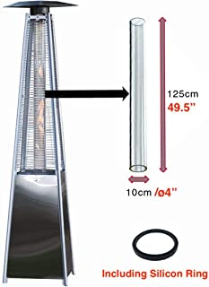 """Viemoi Glass Tube Replacement 49.5"""" Tall �4 in Diameter �"""