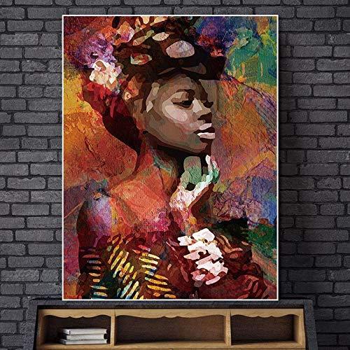 Geiqianjiumai Fototapete Wandbild abstrakte Zeichen Kunst Poster Dekoration Wohnzimmer Porträtkunst rahmenlose Malerei 50X70cm