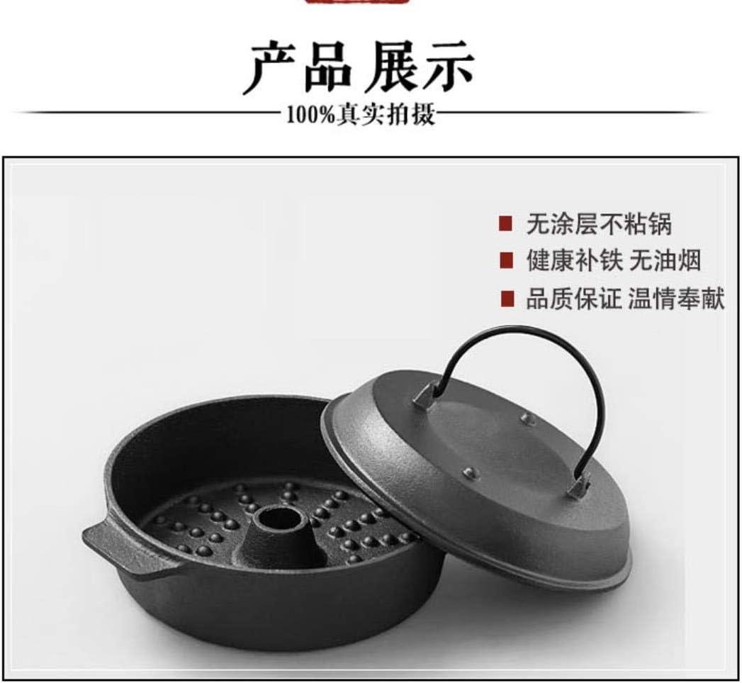 Fonte à fond plat cuisinière électrique pot manuel pot de cuisson à induction multi-fonction 22cm, 22cm liuchang20 (Color : 22cm) 22cm
