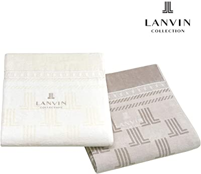 昭和西川 タオルケット ブラウン シングル 140×200㎝ LANVIN コレクション タオルケット アルモニー 2230383410204