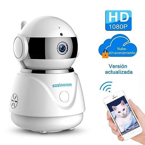 IP cámara WiFi,cámara IP Szsinocam cámaras de vigilancia wifi interior HD 1080P P2P IR
