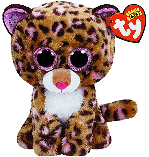 New TY Beanie Boos Cute Patches the Leopard Plush Toys 6'' 15cm Ty Plush Animals Big Eyes Eyed Stuffed Animal Soft Toys for Kids Gifts by Ty Beanie Boos