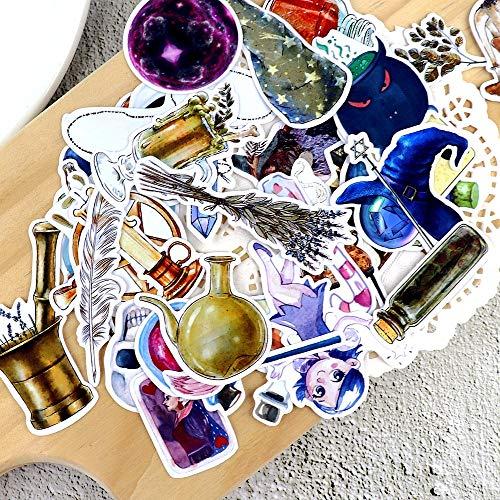 35 Stück Handzeichnung Magic Bottle Planer Aufkleber Crafts Scrapbooking Dekoratives dünnes Papier Magier Aufkleber Briefpapier Papelaria