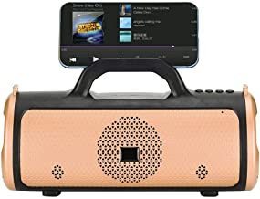 Bluetooth Speaker - Portable ABS Large Battery Capacity Home Wireless Bluetooth Speaker(Gold) photo