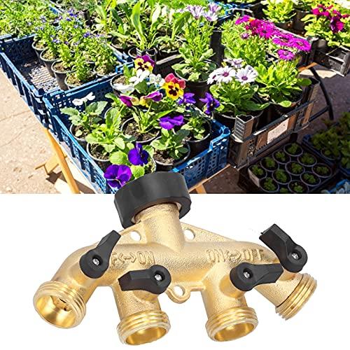 G3 / 4 Divisor de Manguera de 4 vías Adaptador de Manguera de jardín Divisor de Grifo de Agua Conector de válvula de Grifo Conector de riego Distribuidor de Manguera para Grifo