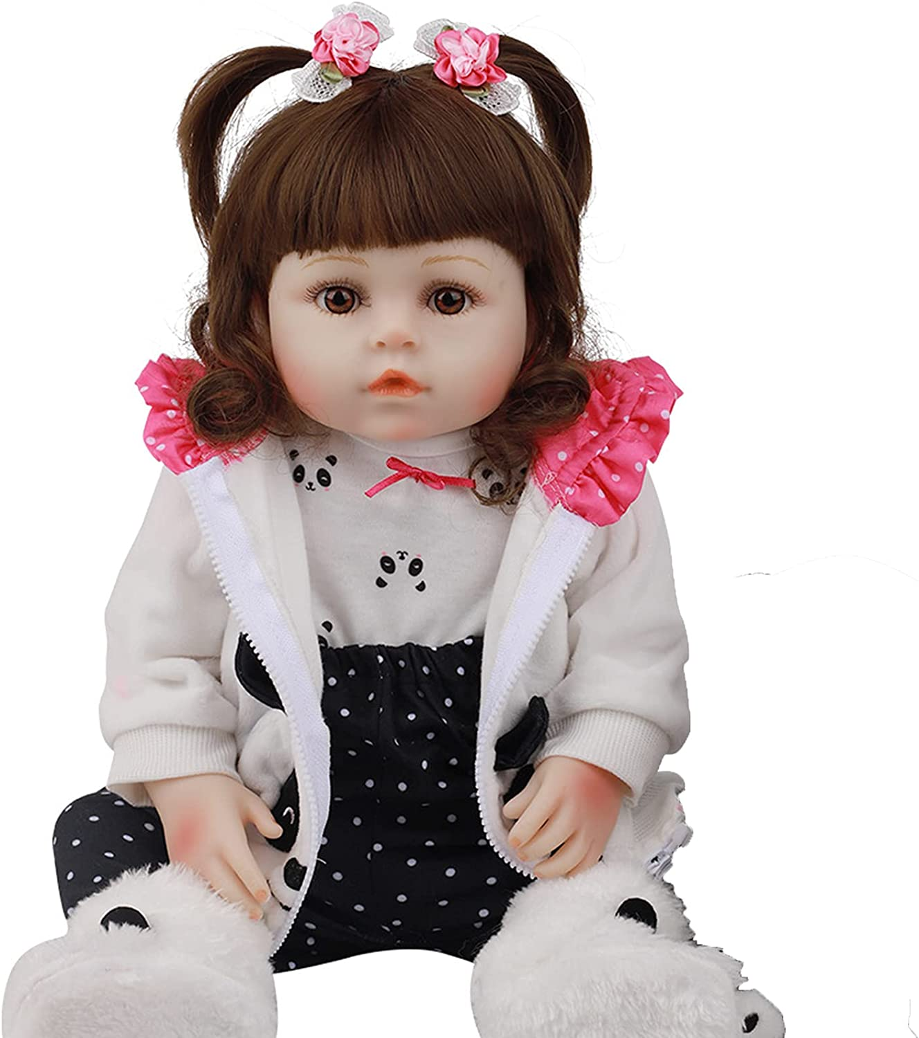 wuxafe Toddler Doll Realistic Reborn Baby Open Eyes Gi Handmade All stores Cheap bargain are sold