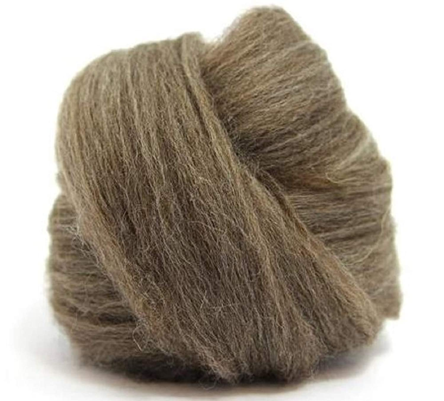 4 oz Paradise Fibers Blue Faced Leicester Roving - Brown - Perfect for Woolen Yarn & Needle Felting