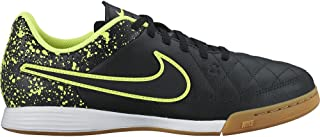 NIKE Youth Tiempo Genio Leather IC-Black/Black