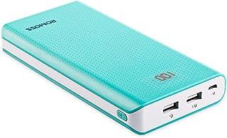 20000mAh 2-Port Power Bank, ROMOSS Sense 6 Large Capacity Portable Charger External Battery Packs with 2.1A / 1A Output an...