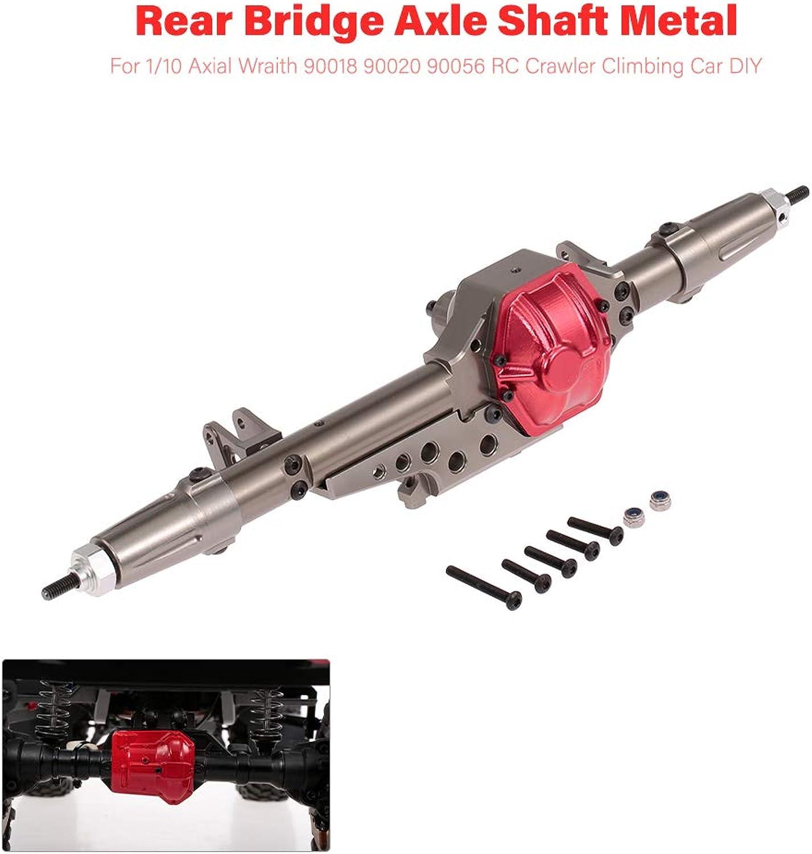 Leslaur Rear Bridge Axle Shaft Metal for 1 10 Axial Wraith 90018 90020 90056 RC Crawler Climbing Car DIY