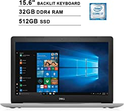 2019 Dell Inspiron 15 5570 15.6 Inch FHD Touchscreen Laptop (Intel Quad-Core i7-8550U?up to 4.0 GHz, 32GB RAM, 512GB SSD, Backlit KB, DVD, Bluetooth, WiFi, HDMI, Windows 10, Sliver) (Renewed)