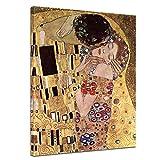 Leinwandbild Gustav Klimt Der Kuss - 50x70cm hochkant -