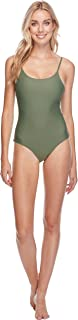 Women's Smoothies Simplicity Solid One Piece Swimsuit