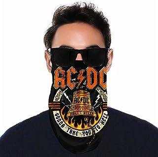 ACDC Hell's Highway Live Hells Bells Tube Neck Gaiter Scarf Bandana for Masks