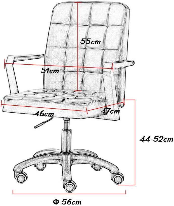 Simili-Cuir, chaises de Bureau d'ordinateur de Bureau à Domicile, Chaise de Tabouret pivotante sur Roues, Hauteur réglable de 8 cm Pink
