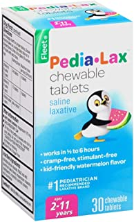 Fleet Pedia-Lax Chewable Tablets Watermelon Flavor 30 Tablets (PACK OF 2)