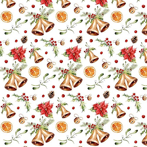 Tischdecken aus Airlaid | Mitteldecken 80 x 80 cm | Mank Einmal-Tischdecke Weihnachten für Gastronomie und Feiern | 20 Stück | Marianne