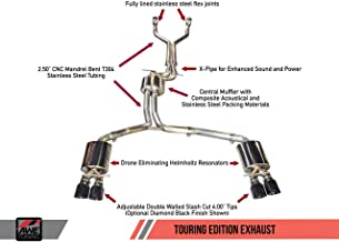 AWE Tuning 3015-43014 Audi S7 4.0T Touring Edition Exhaust (Diamond Black Tips)