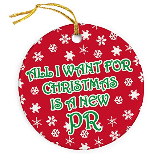 Gone For a Run All I Want for Christmas is a New PR Ornament | Running Porcelain Ornaments