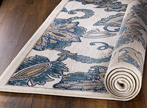 MADISON COLLECTION 402 Vintage Distressed Style Area Rug Clearance Soft Pile Durable Size Option , 1'.10'' x 7' Hallway Runner
