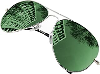 24d3b5536f 4sold Lunettes de soleil style aviateur années 70 Verres effet  miroir Protection UV 400