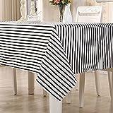 QiuQiu elegante lavable funda para mesa mantel de rayas negro patrones para...