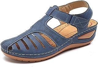 Best Comfy Wedge Sandal Strap Flat Shoes, Vintage Peep Toe Suede Flats, Wide Fit Sandal Review