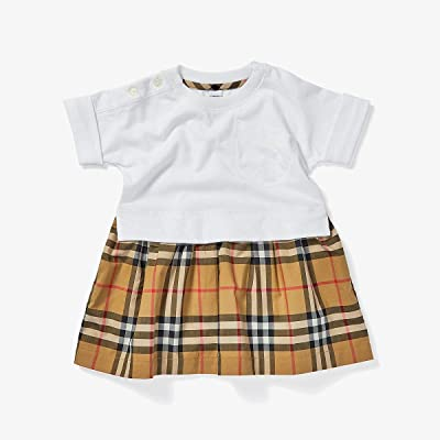 Burberry Kids Ruby Dress (Infant/Toddler) (White) Girl