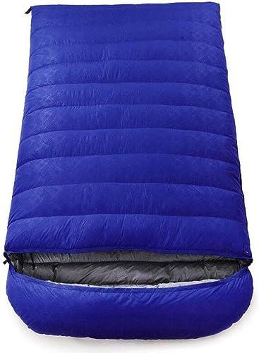 JBHURF Sac de Couchage pour Camping en Plein air Quatre Saisons Enveloppe pour Alpinisme Double Sac de Couchage Ultra-léger (Capacité   6.0kg, Couleur   Camouflage bleu)