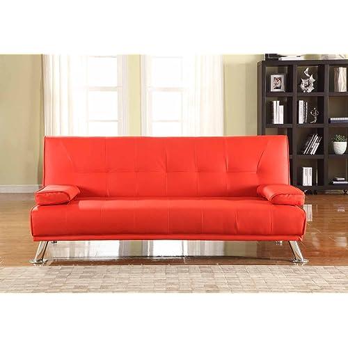 Red Leather Sofa: Amazon.co.uk