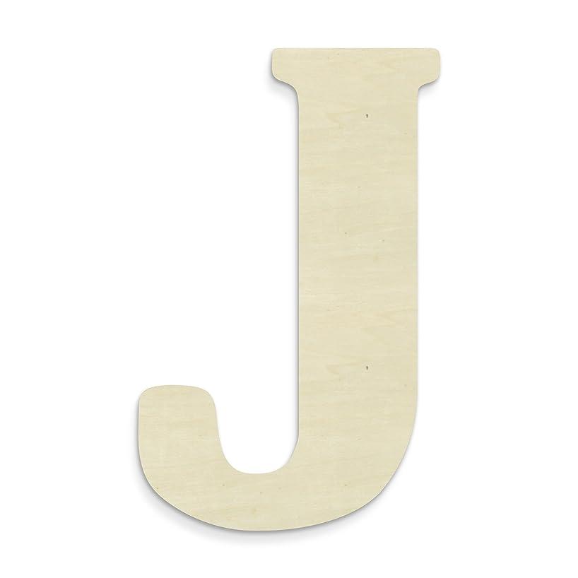 UNFINISHEDWOODCO 23-Inch Unfinished Wood Letter, Large, Letter J