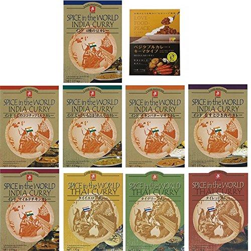 無添加 レトルト カレー インドカレー & タイカレー 10種類 セット (ご当地 即席 インスタント カレー) (贈答 ギフト 景品 にも)