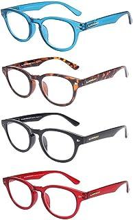 427f2e6f6a46 LianSan Oversized Round Womens Mens Reading Glasses Spring Hinge Wayfarer  Eye Strain Readers 2.0 1.5 1.0