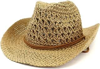 Lisianthus Men's & Women's Western Style Cowboy Cowgirl Straw Sun Hat